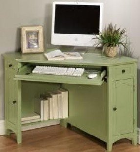 French country corner computer desk 2
