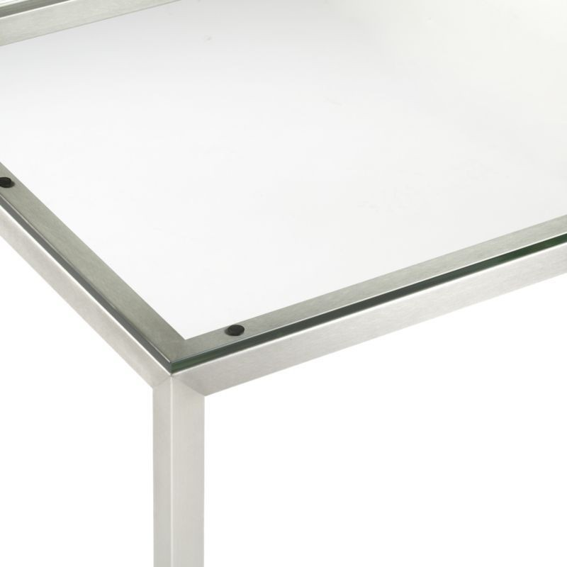Bon Glass Top Dining Tables With Metal Base