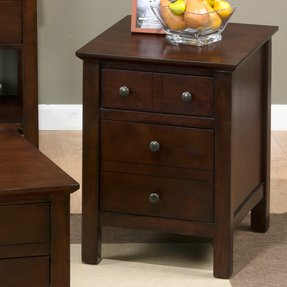 Home Accent Tables End Table Jofran Aston Cherry Mini