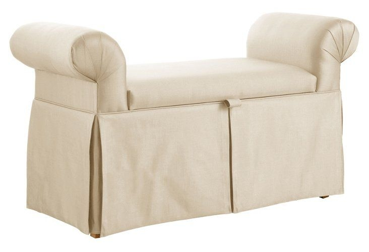 Delicieux Lane The Art Of Upholstery Mara Roll Arm Storage Bench