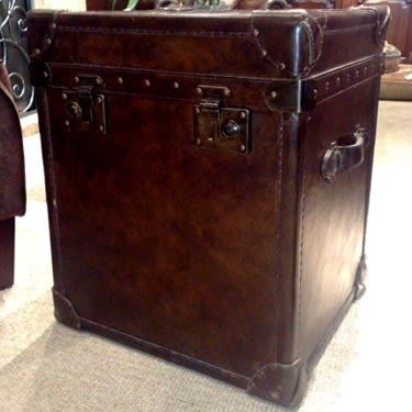 Genial Leather Trunk End Table   Ideas On Foter