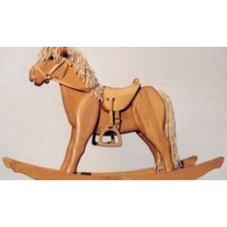 Wooden rocking horse for baby