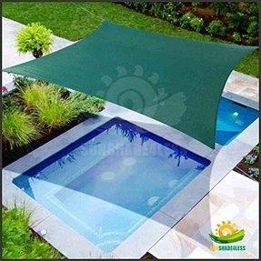 16 X 12 Sun Shade Sail Uv Top Outdoor Canopy Patio Lawn Rectangle Green