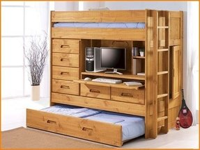 Bunk bed w trundle