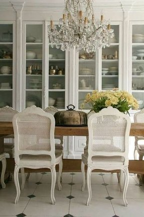 Cane Dining Chairs 1