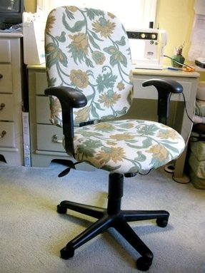 crazy office chairs. How To Transform A Boring Office Chaire - Into Floristic, Crazy One? Using Nice Fitting Chair Slipcover Full Of Colored Flowers. Chairs