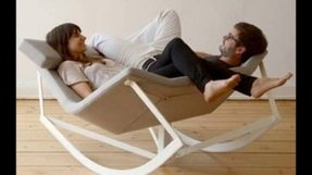 Cream snuggle chair