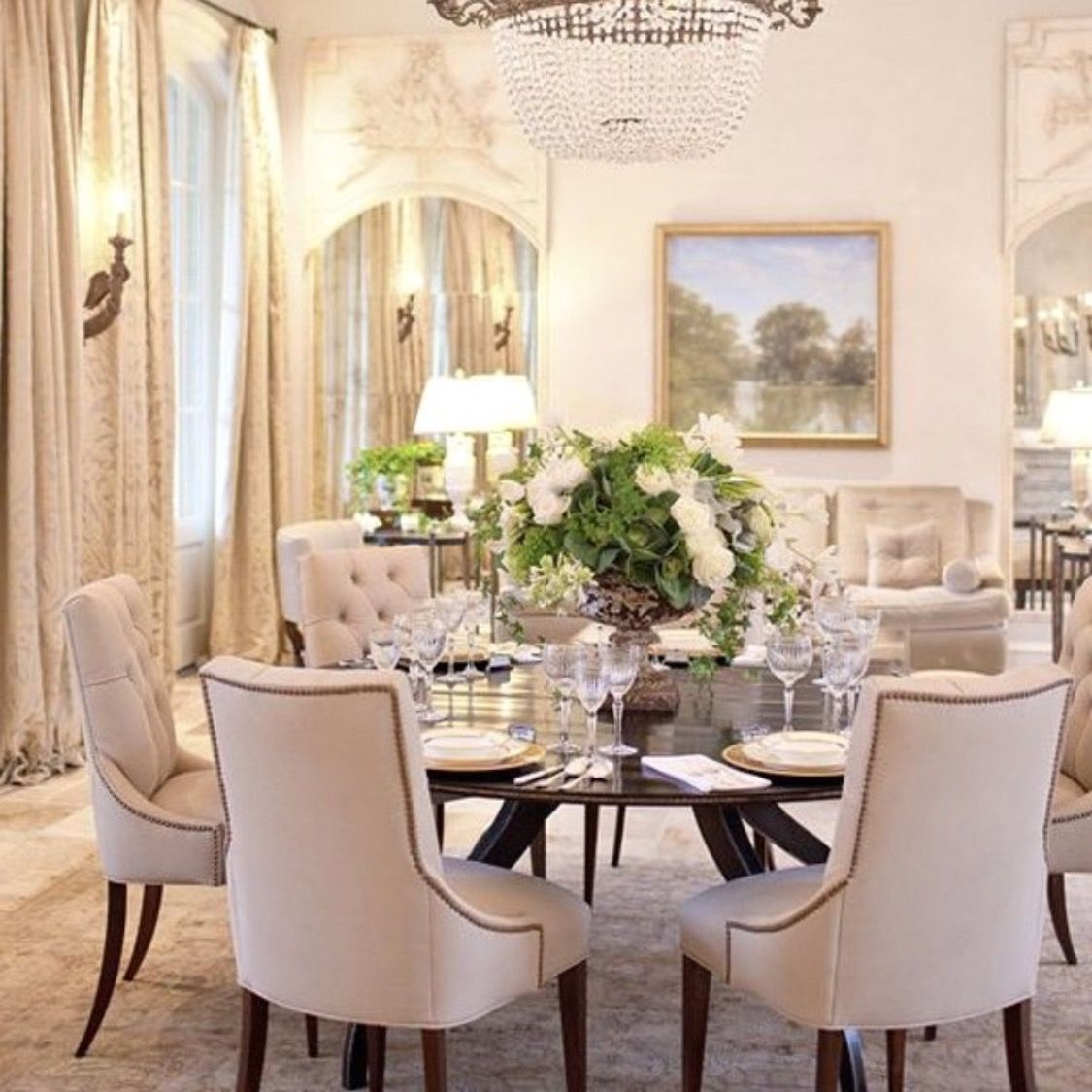 Dreaming of a round dining room table & Round Glass Dining Room Table Sets - Foter