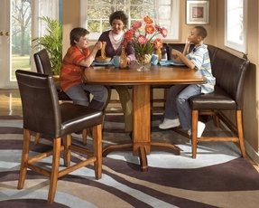 Furniture Dining Room Corner Pub Table Set