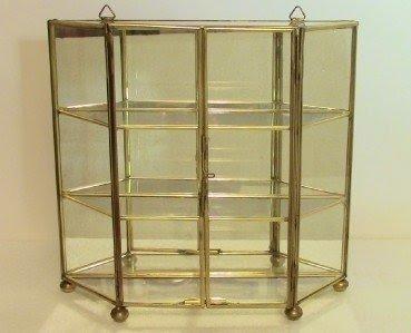 Glass Curio Specimen Display Case Wall Cabinet W Doors Mirror
