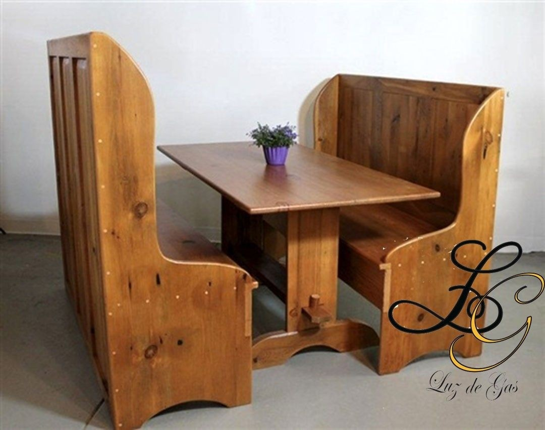 Beau High Back Dining Bench From Reclaimed Wood From Ecustomfinishes 1