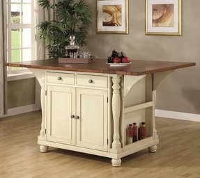 Kitchen Cart Drop Leaf Foter - Kitchen island with folding leaf