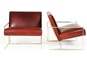 Leather lounge chairs 3