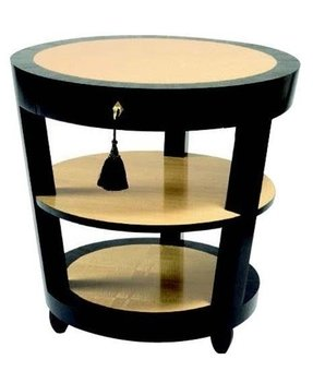 Round wood end table 1