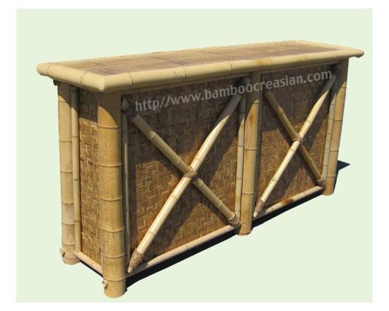Sets Outdoor Bamboo Tiki Bar Kits Portable Bamboo Tiki Bars