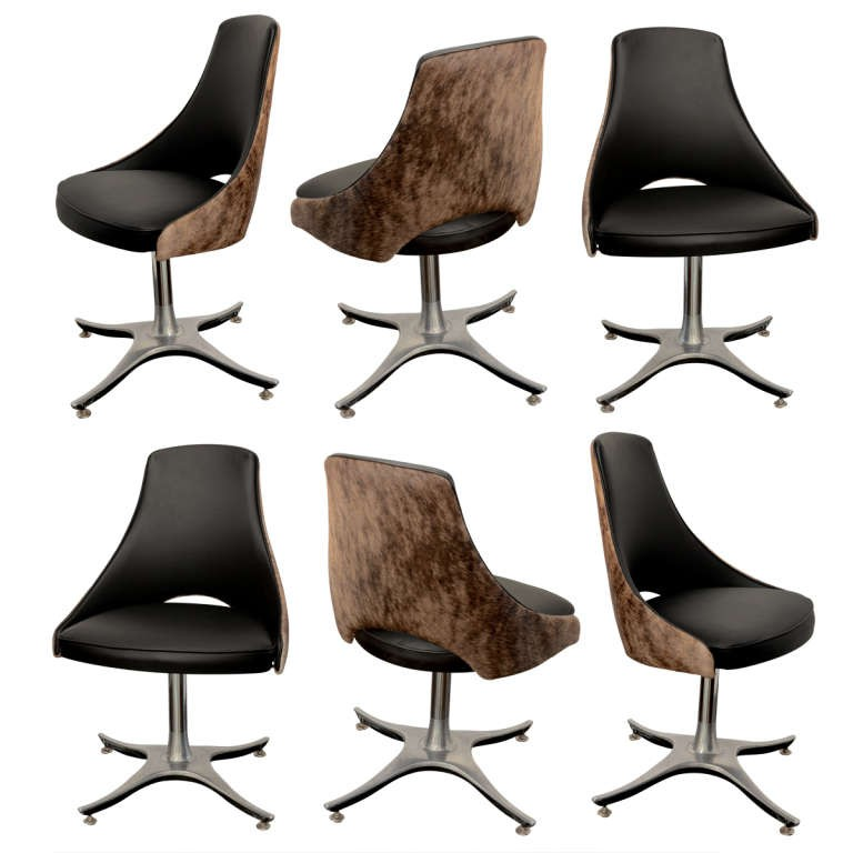 Six leather hide swivel dining chairs  sc 1 st  Foter & Swivel Dining Chairs - Foter