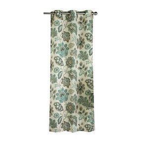 Style poppies poly duck cloth grommet curtain panels set of
