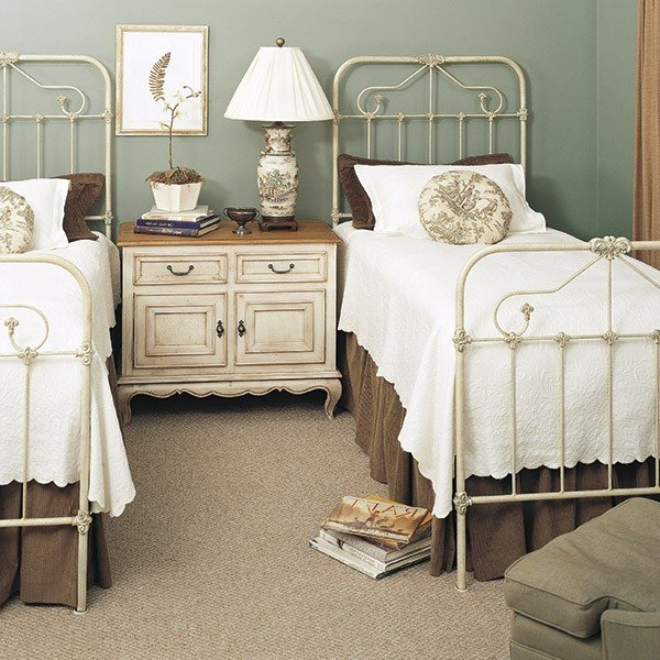 Wrought iron twin beds