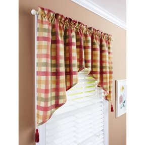 Yellow plaid curtains 5