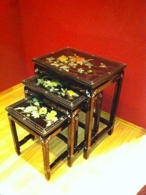 Asian nesting tables 12