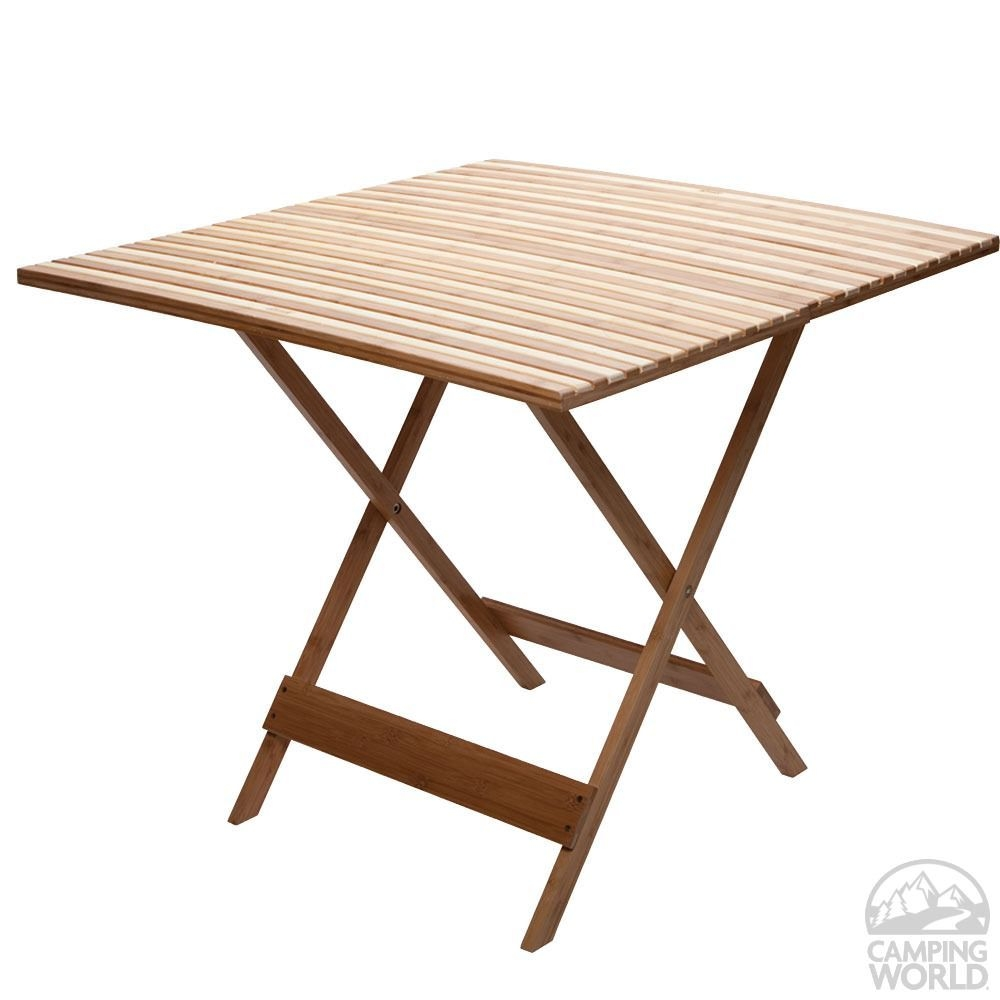 Elegant Bamboo Folding Table 4
