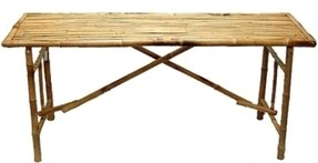 Bamboo folding table 6
