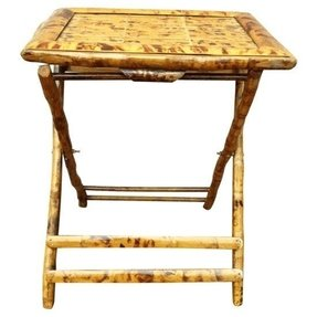 Bamboo folding tables