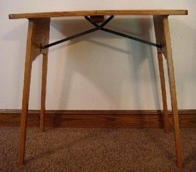 Console folding table