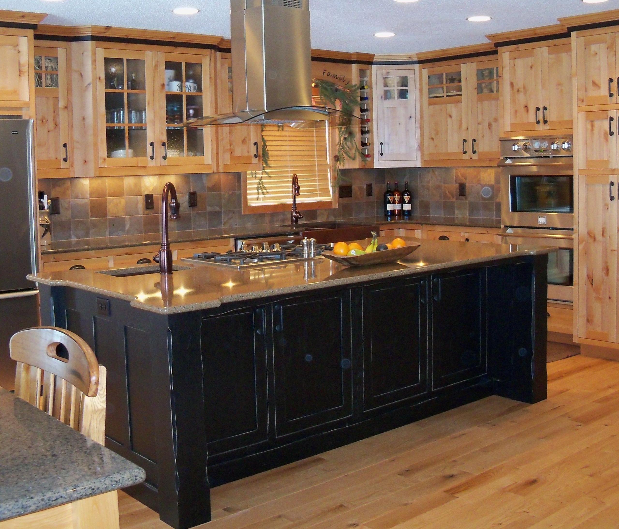 Dark Wood Kitchen Island 3 .