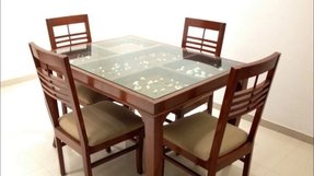 Excellent Glass Top Dining Tables With Wood Base Ideas On Foter Download Free Architecture Designs Scobabritishbridgeorg