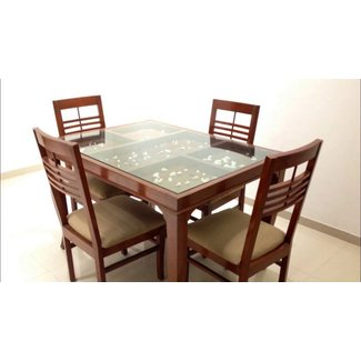 Gl Top Dining Tables With Wood Base 2
