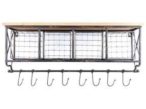 Wall Shelf With Hooks And Baskets Foter