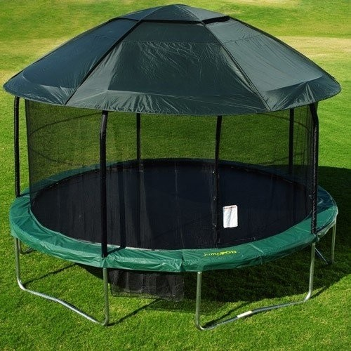 Jumpod elite 15 tr&oline and enclosure combo with protective cover & Trampoline Protective Cover - Foter