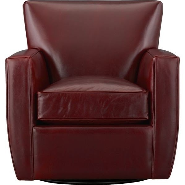 Leather Barrel Chairs
