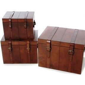 Leather storage chests