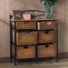 Wicker storage chests foter for Storage trunks for living room