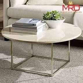 Marble top round coffee table 2