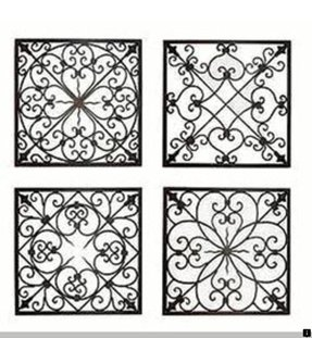 Metal scroll wall decor 1