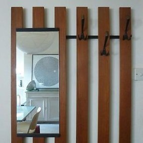 Wall Mounted Coat Rack With Mirror