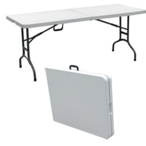 Plastic portable tables