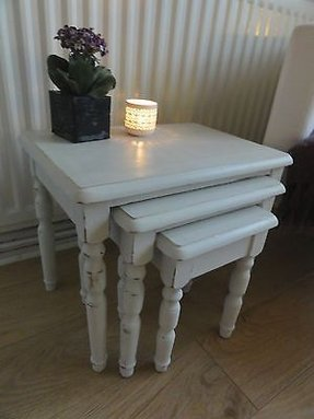 Shabby chic nesting tables 1