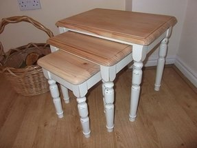 Shabby chic nesting tables 2