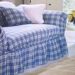 Sure Fit Shabby Country Cottage Plaid Slipcover Sofa Loveseat