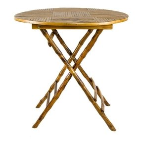 Tortoise bamboo folding table tables furniture