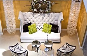 Traditional Fabric High Back Sofas