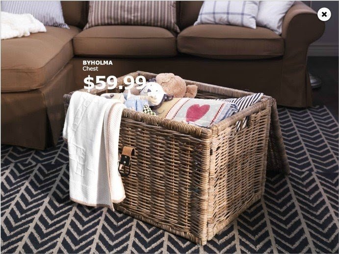 Wicker Blanket Storage Chest