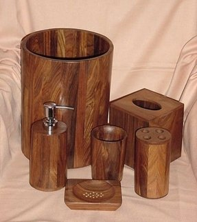 Wood bath accessories 2