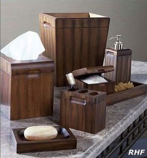 Wood bath accessories 6