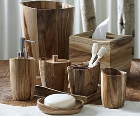 Wood bath accessories 7