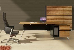 2pc l shape modern contemporary executive office desk set js